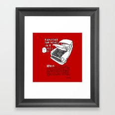 Mini Cooper Classic. Thought for being in a box 152 ft³. Framed Art Print