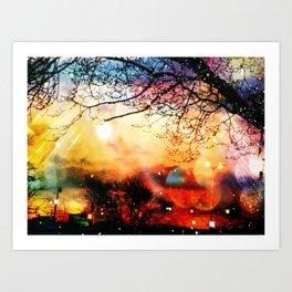 Rainbow Kisses Art Print
