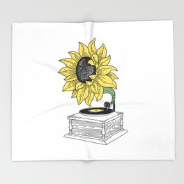 Singing in the sun Throw Blanket