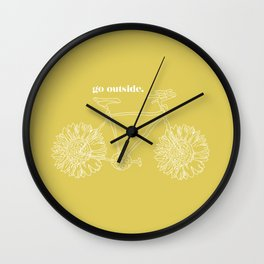 Sunflower Bike Wall Clock