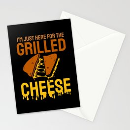Grilled Cheese Cheesy Food Lover Stationery Cards