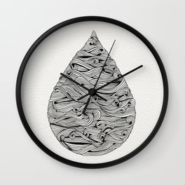 Water Drop – Black Ink Wall Clock