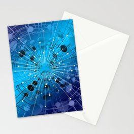 Network Pattern Stationery Cards