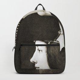 Bianca Sforza by Leonardo da Vinci Backpack