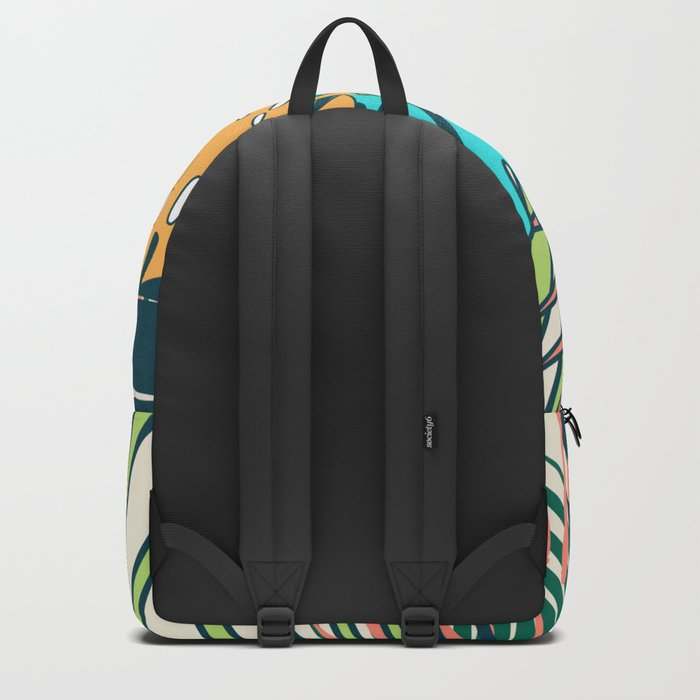 Tropical leaves cream Backpack