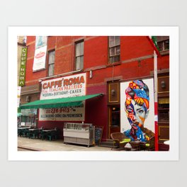 Caffe Roma, Little Italy NYC Art Print