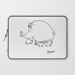 Pablo Picasso Pig Drawing, Lines Sketch, Animals Artowork, Men, Women, Kids, Tshirts, Posters, Print Laptop Sleeve