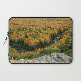 Autumn Colors at the Carp River Valley, Porcupine Mountains State Park, Upper Peninsula, MI Laptop Sleeve