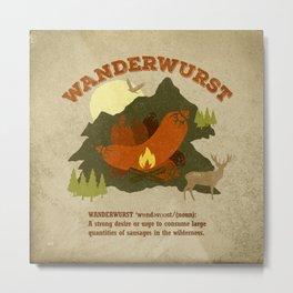 WanderWurst Metal Print