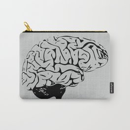 Braaains (black on grey) Carry-All Pouch