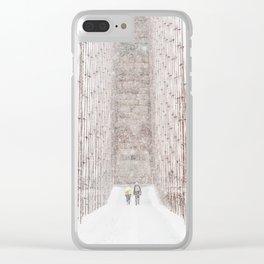 Brooklyn Bridge Snow Clear iPhone Case