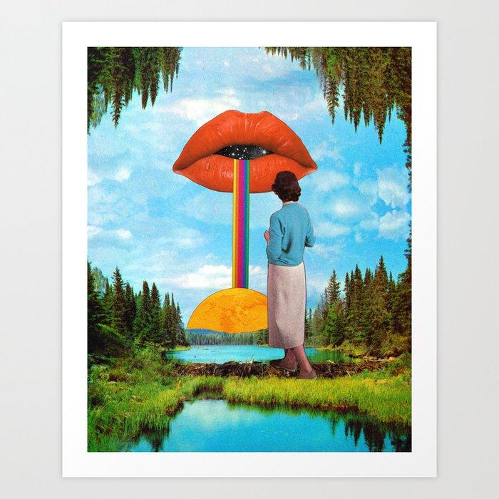 Lips & Rainbow Kunstdrucke