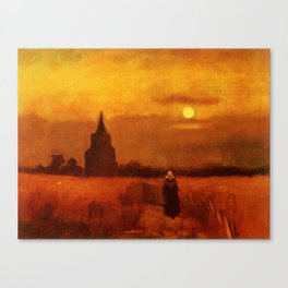 Vincent Van Gogh The Old Tower In The Fields Canvas Print