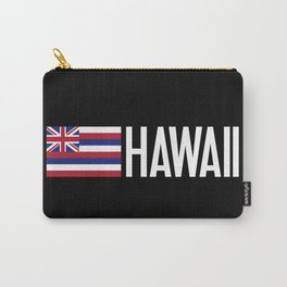 Hawaii: Hawaiin Flag & Hawaii Carry-All Pouch