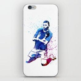 Sports art - France football player iPhone Skin