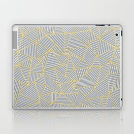 Ab Outline Gold and Grey Laptop & iPad Skin