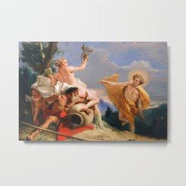 Oil Painting Apollo Pursuing Daphne by Giovanni Battista Tiepolo Metal Print