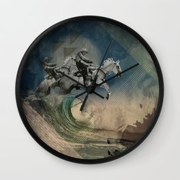 riders on the storm Wall Clock