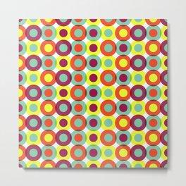 Geometric Pattern 219 (colorful circles) Metal Print
