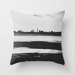 Portsmouth Skyline.  Throw Pillow