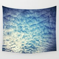 racing Wall Tapestries featuring Racing Clouds by Luci Dreams
