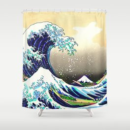 The Great Wave 3 Shower Curtain