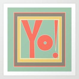 YO! Retro Art Print