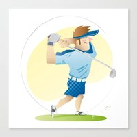 golf Canvas Prints featuring Golf by Dues Creatius