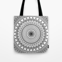 black and white mandala Tote Bag