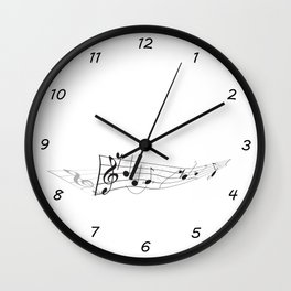 Twisted Music Wall Clock