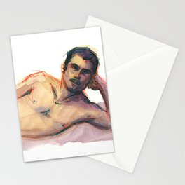 CARLOS, Semi-Nude Male by Frank-Joseph Stationery Cards