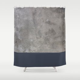 Dipped Concrete Print Shower Curtain