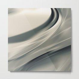 Waves abstract art Metal Print