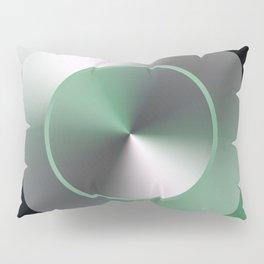 Serene Simple Hub Cap in Green Pillow Sham