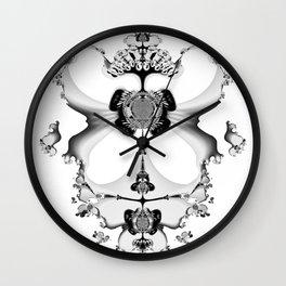 Fractal Art - Angel and Skelleton Wall Clock