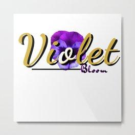 Violet Bloom Metal Print