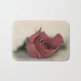 Single Rose fine art photography Bath Mat