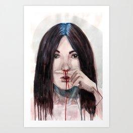 Nosebleed Art Print
