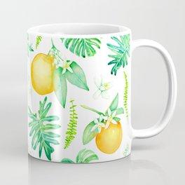 Citrus Tropics - White Coffee Mug