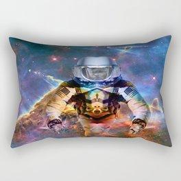 Astronaut Disintegration Rectangular Pillow