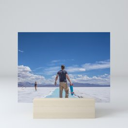 Salt Desert Board Mini Art Print