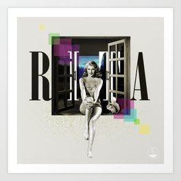Divas: Rita Hayworth. Art Print