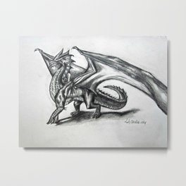 A Dragon For the Heck of It Metal Print