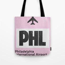 PHL Philadelphia airport code Tote Bag