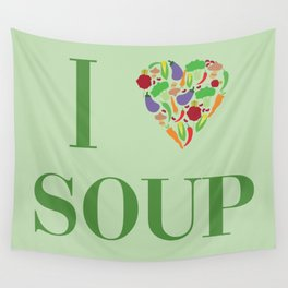 I heart Soup Wall Tapestry