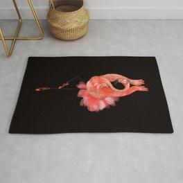 Flamingo ballerina Rug