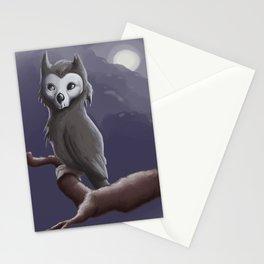 Skull Owl  Stationery Cards