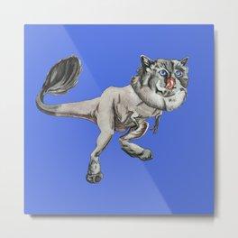 Tyrannosaurus Kitty Metal Print