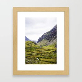 Green Irish Valley Framed Art Print