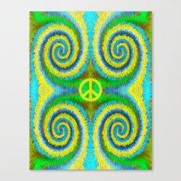 Peace Koru Canvas Print